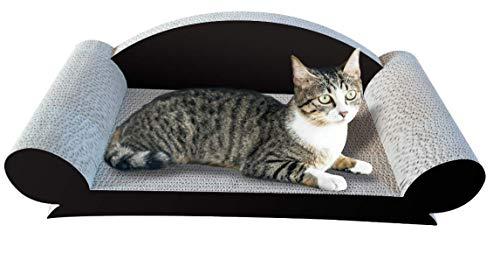 LOVFIN Rascador de gatos, cartón, cactus gato rascador y almohadilla rascador para gatos [cartón y construcción superior] Cama ondulada duradera para gatos