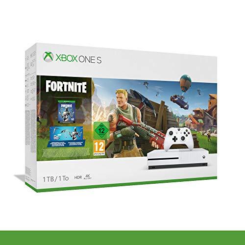 Xbox One S 1TB Fortnite, Pegi 12, Console Xbox One S, 4K UKTRA HD, HDR, 1 Mese GamePass, Microsoft
