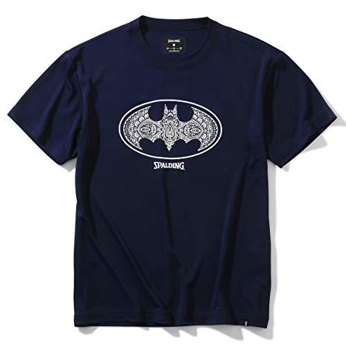 SPALDING(スポルディング) バスケットボール Tシャツ バットマン ダマスクロゴ SMT200480 ネイビー XLサイズ バスケ バスケット