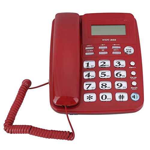 Weikeya Saliente Oficina Teléfono, Material: Abdominales Opcional Color: Blanco, Negro, Rojo Peso: Aprox. 657g Casa Teléfono Abdominales por Casa Oficina Hotel teléfono