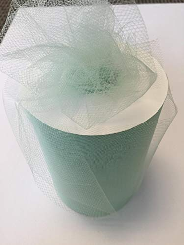 Tulle Fabric Spool/Roll 6 inch x 100 yards (300 feet), 34 Colors Available, On Sale Now! (mint)