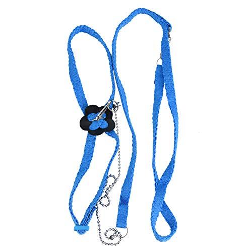 Smandy Vogel Geschirr Papagei Vogel Leine Outdoor Einstellbare Harness Training Seil Fiber Rope weich und bequem Verstellbarer Leine für Vögel Outdoor Training und Spielen(Blau)