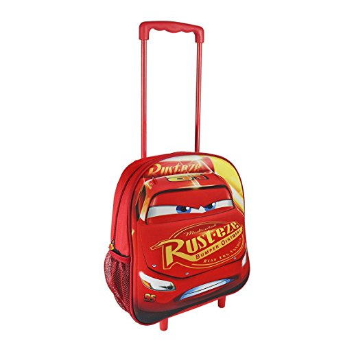 Disney 2100001952 Cars - Saetta McQueen Carrello con 31 centimetri 3D Junior zaino