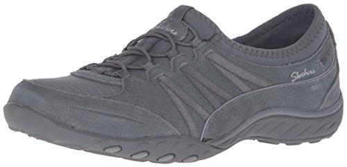 Skechers Breathe Easy-Moneybags, Zapatillas sin Cordones para Mujer, Gris (Charcoal Ccl), 37 EU