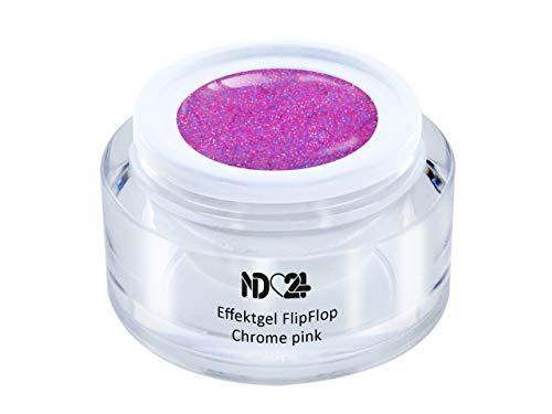 Uv Led Effekt-Gel Flip Flop Chrome Pink - Pink - Studio Qualität - Made In Germany - 5ml