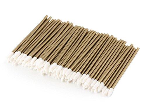 Unicorn Lashes Lot de 100 bâtonnets de nettoyage pour extensions de cils Doré