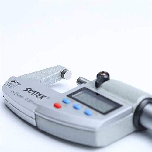 WANGIRL Wasserdichtes digitales Außendurchmesser-genaues Messwerkzeug 0-25mm Metrik Metermikrometermaschinenmessung mit LOLDF1