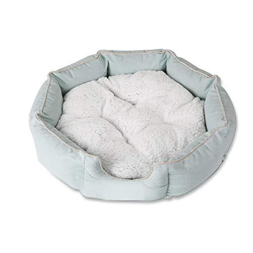 PETCUTE hundekorb Hundebett Katzenbett Luxus gesteppt weiches Fell Fleece Hund Bett waschbar Haustier Plüsch Korb Matte Kissen
