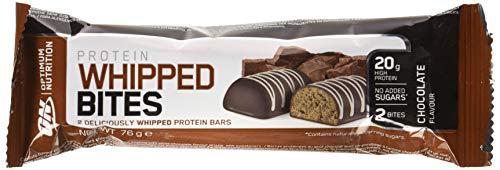 Optimum Nutrition Protein Whipped Bites barrita proteica, Sabor de Chocolate - Paquete de 12 unidades