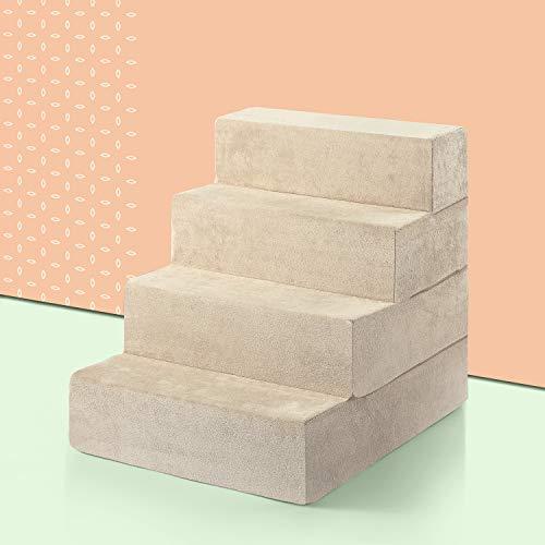 Zinus 4-Step Comfort Pet Stairs/Pet Ramp/Pet Ladder, Extra Large