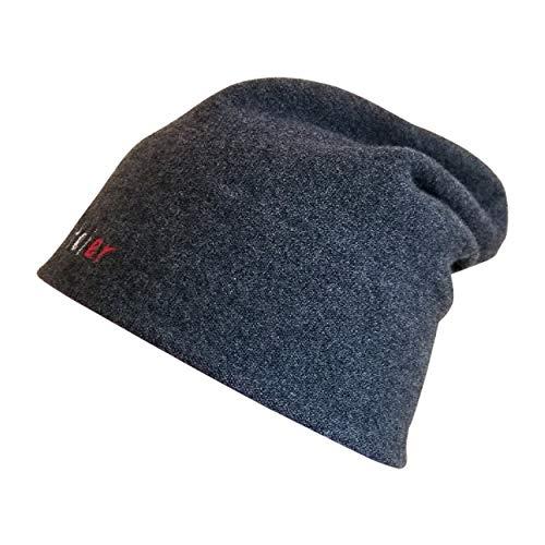 LVFEIER® hochelastische Wolle RF EMF Strahlenschutz Heizkappe Abschirmung Helm Gr. 58, grau