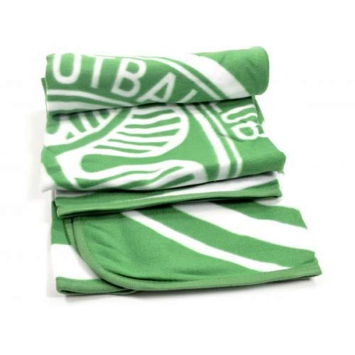 Celtic FC Fleece Blanket (One Size) (Green/White)