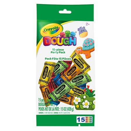 Crayola Modeling Dough Set - 15 Piece Dough Party Activity Pack - Comes with 15 Packs of Dough in Assorted Colors