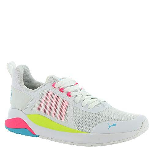 PUMA Anzarun Women's Sneaker 8 B(M) US White-Bright Pink-Blue Atoll