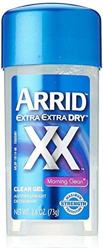 Arrid Xd Clr Gel Matin Taille 2.6z Extra Dry Matin Clean Clear Gel 2,6 onces, paquet de 12