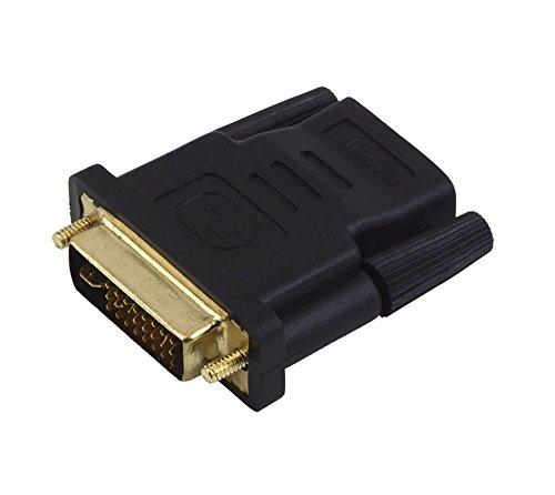 SODIAL(R) Adaptador DVI-I Dual-Link 24+5 Macho a HDMI Hembra
