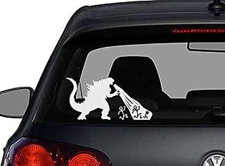 Godzilla Stick Figure Family Decal Sticker Car Home Laptop Dye-cut By Boston Deals USA