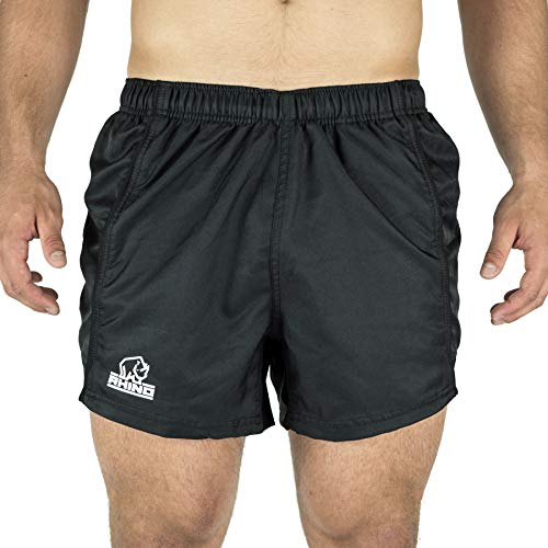 RHINO RUGBY - Performance Game Shorts - Made with 100% Polyester for Comfort and Performance - White - Size 2XL(40)