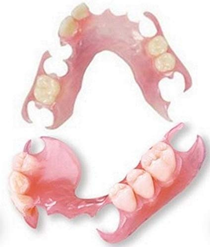 Affordable Flexible Valplast Customized Partial Denture (Pink, Valplast)