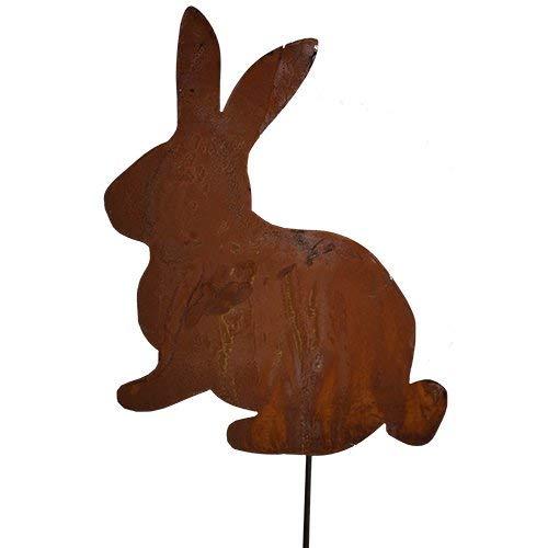 Rouille, lapin de Pâques, Lapin Déco Mini lapin sur tige Tige, 20 cm, 40 cm