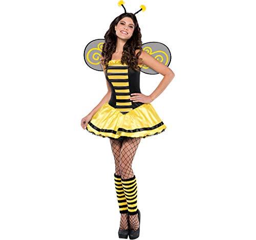Unbekannt Damski kostium pszczółki, Maria, owada, pszczoła, sukienka żółta, czarna, karnawał (L)