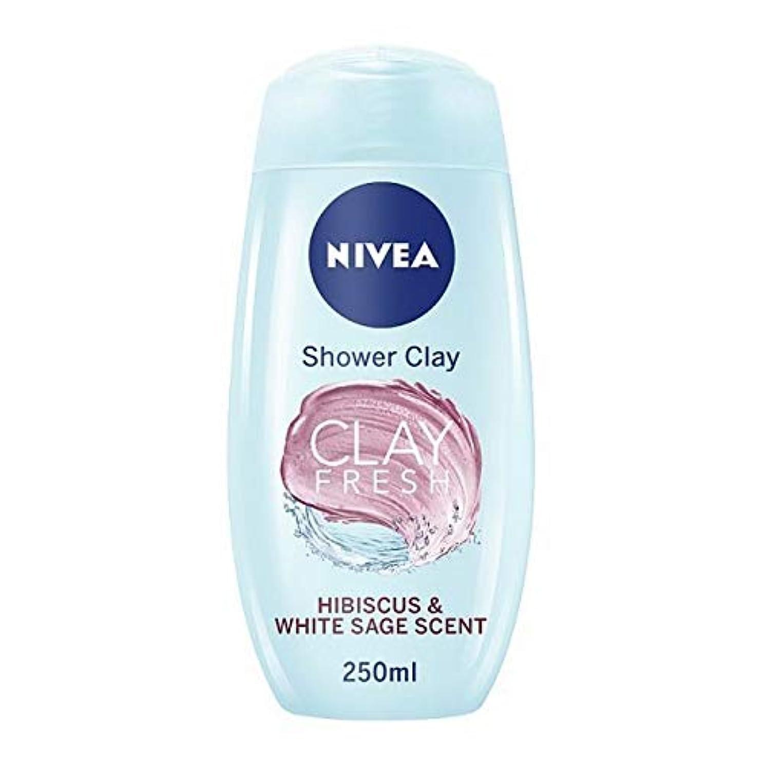感覚熟練した男性[Nivea ] ニベアシャワー粘土Hbs&Wsage 250ミリリットル - NIVEA SHOWER CLAY HBS&WSAGE 250ML [並行輸入品]