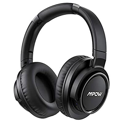 Mpow H18 50Hrs Noise Cancelling Headphones, Hi-Fi Deep Bass Bluetooth Headphones Over Ear, Foldable Headset with CVC6.0 Mic, Memory Foam Ear Cups, Wireless and Wired for Cellphone PC TV Travel Work from Mpow