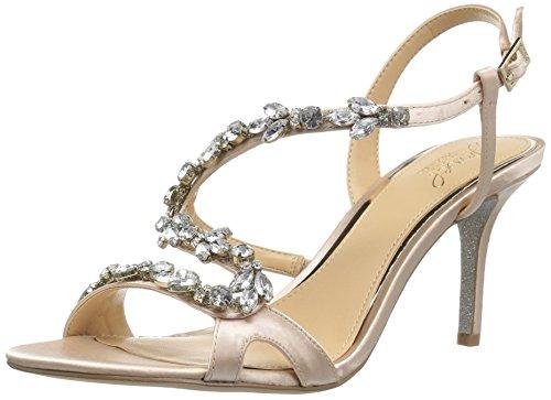 Badgley Mischka Damen GANET Sandalen mit Absatz, champagnerfarben, 40 EU