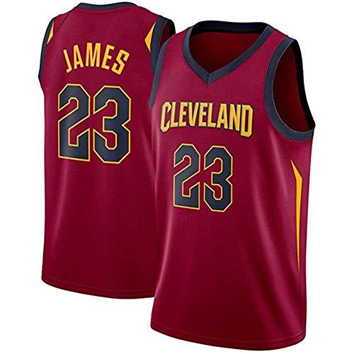 WRHH - Camiseta de baloncesto sin mangas para hombre, diseño de Cleveland Cavaliers 23 # Lebron James