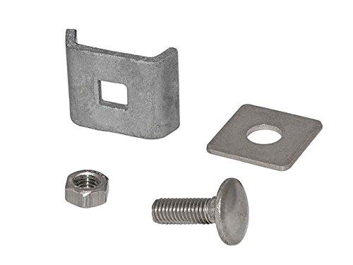 Zaundirekt Verbinder in verzinkt, Gittermattenverbinder, Eckverbinder Doppelstabmatten