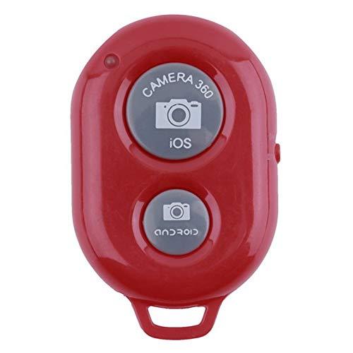 CamKpell Botón del Obturador del Temporizador automático del teléfono inalámbrico para iPhone 7 Control Remoto inalámbrico con Disparador de Selfie Stick - Rojo