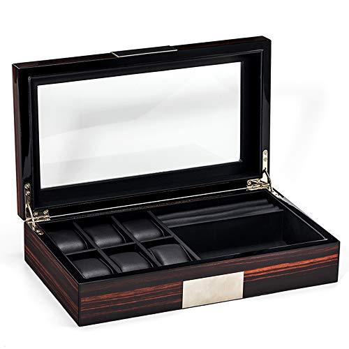 Watch boxes High-End Luxus Holz Herren Schmuck Aufbewahrungsbox Europäische große Kapazität Uhr Eye Box Set Geschenkbox Uhr Schmuck Brille integrierte Aufbewahrungsbox