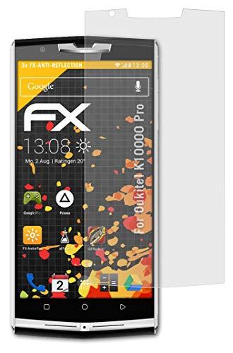 atFolix Panzerfolie kompatibel mit Oukitel K10000 Pro Schutzfolie, entspiegelnde & stoßdämpfende FX Folie (3X)