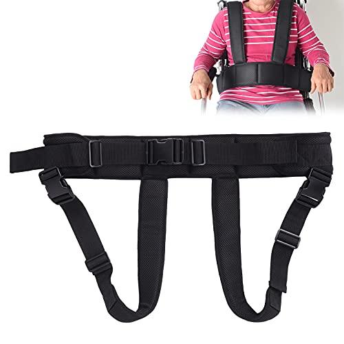 Cinturón de seguridad para silla de ruedas, correa de arnés ajustable elástica antideslizante, malla de aire, correa para asiento de silla de ruedas, chaleco para ancianos