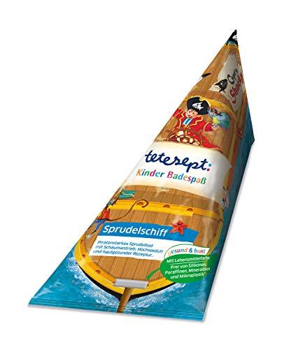 tetesept Kinder Badespaß Sprudelschiff Capt'n Sharky – Pflegender Badezusatz für Kinder ab 3 Jahren – 1 x 70 g