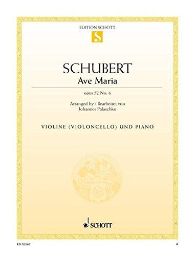 Ave Maria Op 52/6 (d 839). Violine, Violoncello, Klavier