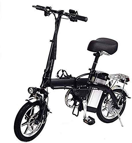Leifeng Tower Bicicletas eléctricas rápidas de alta velocidad para adultos 14 pulgadas bicicleta eléctrica plegable con 48 V 10 AH batería de litio 350 W motor de alta velocidad para adultos