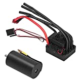 VGEBY RC 3670 Motor and 120A ESC 2650KV Brushless Motor and ESC with T Plug Set Replacement for 1/8 RC Car