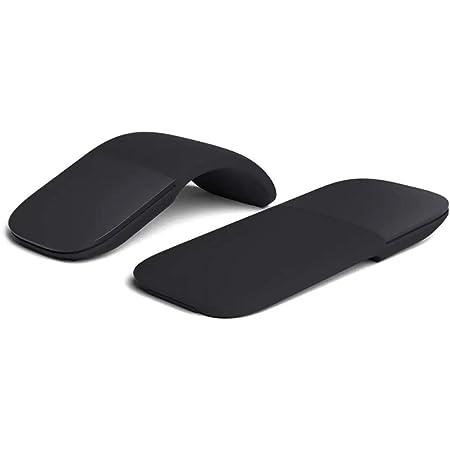 DUOCACL Ratón inalámbrico Bluetooth Ergonómico Plegable ARC Optical Touch Mouse Adecuado para PC Laptop Notebook