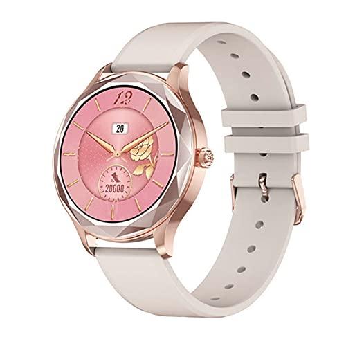 LHL DT86 Smart Watch Women Heart Rate Presión Arterial Monitor De Deportes Fitness Tracker IP67 A Prueba De Agua Bluetooth Smartwatch para iOS Android,A