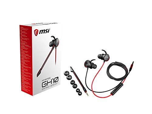 MSI Immerse GH10 Kopfhörer mit Mikrofon, Fernbedienung, kabelgebunden, Schwarz/Rot