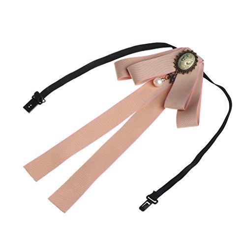 SimpleLife Männer/Frauen Pre-Tied Krawatte Brosche Fliege Ribbon Lange Große Bowknot Fliege Broschen Mit Halskette Patriotischen Kragen Schmuck Geschenk