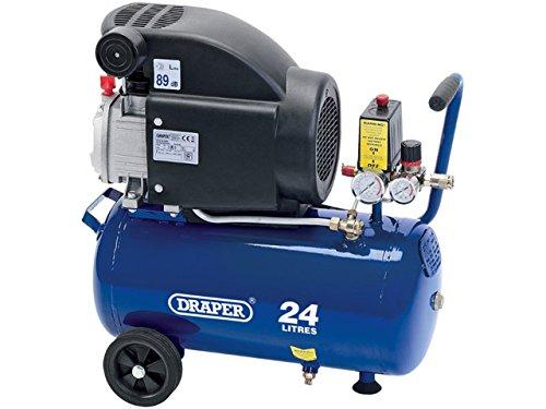 Draper 24980 Air Compressor, 24L, 230V, 1.5Kw, Blue