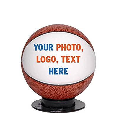 Custom Personalized Mini Basketball - 6 Inch Mini Sized Basketball - Ships in 3 Business Days, High Resolution Photos, Logos & Text on Basketballs - for Trophies, Personalized Gifts