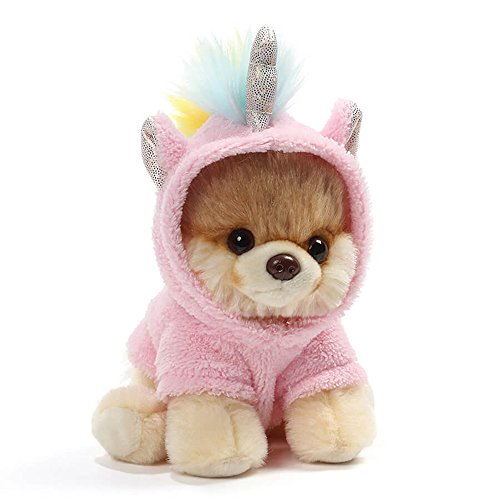 GUND World's Cutest Dog Boo Itty Bitty Boo Unicorn Stuffed Animal Plush, 5""