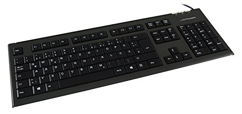 LC Power LC-KEY-3B USB QWERTZ Deutsch Anthrazit - Schwarz Tastatur, LC-KEY-3B