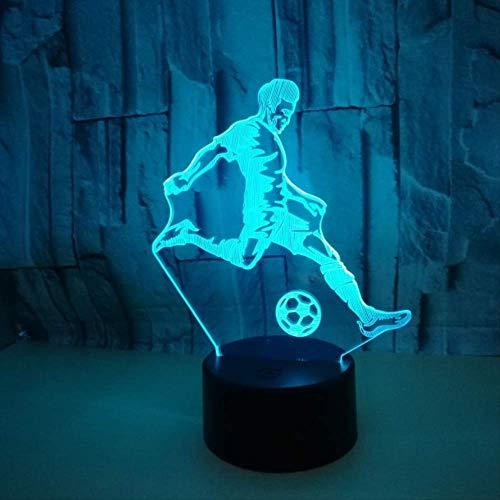 Kleurrijke lamp-illusie Der Noten-3d Geleide nachtlampje USB tafellamp voor kinder-baby-kindergeschenk-nachtkast-slaapkamer-voetbal