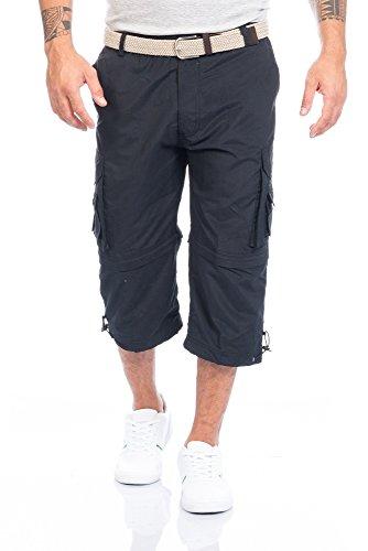 Fashion Herren Shorts Kurze Hose mit Dehnbund ID388, Größe:3XL;Farbe:Schwarz