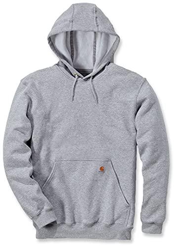 Carhartt Midweight Sweatshirt Workwear Kapuzenpullover Hooded Sweater Original Fit Hellgrau, M, Heather Grey, Hombre