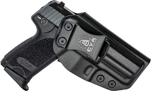 CYA Supply Co. Fits H&K USP 9/40 Compact Inside Waistband Holster Concealed Carry IWB Veteran Owned Company (Black, 025- H&K USP 9/40 Compact)